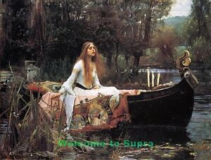 The-Lady-Of-Shallot-John-Waterhouse-Repro-oil-painting