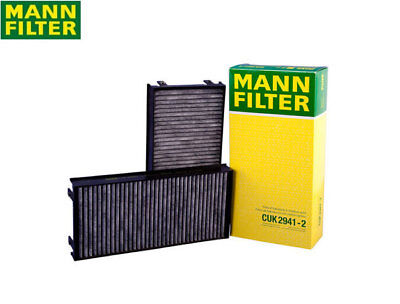 BMW E70 E71 X5 X6 Cabin Air Filter Set for Fresh Air Activated Charcoal Mann