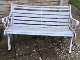 Cast Iron End Garden Patio Bench