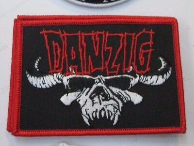 DANZIG MISFITS PATCH COLLECTIBLE RARE PATCH EMBROIDED METAL LIVE