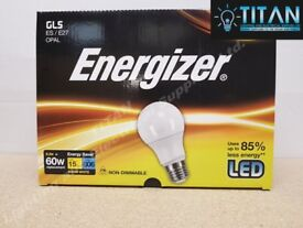 LED GLS 9.2W (60W) E.S E27 ENERGIZER WARM WHITE OPAL LAMP (12 PACK)