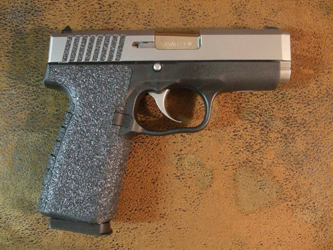 Black Textured Rubber Grip Enhancements for Kahr CW45 & P45
