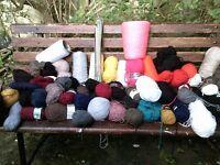 1 Large Box of Knitting Wool + Needles