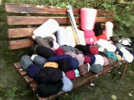 Large box of Knitting Wool an Knitting Needles
