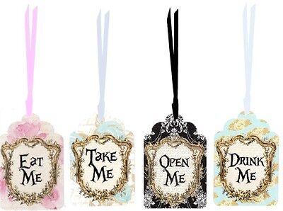 Alice in Wonderland 20 eat me, drink me, take me, open me party tags](Wonderland Parties)
