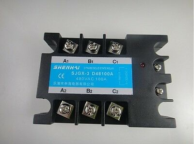 Three Phase 3phase Dc Ac Solid State Relay Ssr-100a 100a
