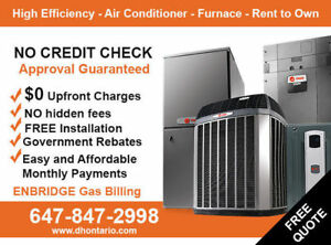 High Efficiency Air Conditioner Furnace – Rent to Own - $0 Down