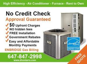 AC - Furnace -$0 installed - NO Credit Check - Same Day Service