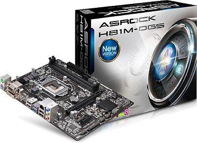 SCHEDA MADRE Micro-ATX ASROCK Motherboard H81M-DGS socket LGA 1150 Intel H81