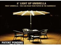 2.7m SaturnLight Up Parasol With Transformer