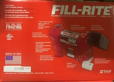 Fill-rite Fr4210g 12 Volt 20gpm Dc Hi-flow Fuel Transfer Pump