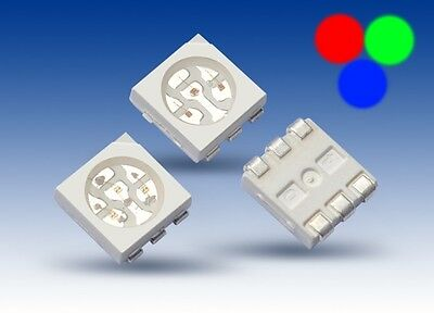 50 Warm White 5050 SMD LEDs 3 Chip PLCC 6 HighPower Warm White LED SMDs White
