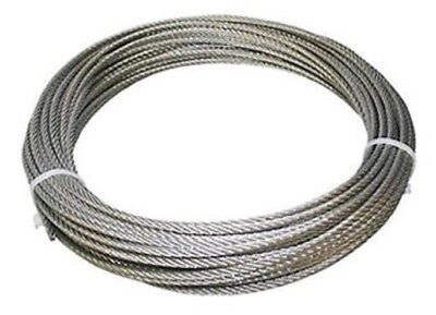 304 Stainless Steel Wire Rope Cable 532 7x19 50 Ft Coil