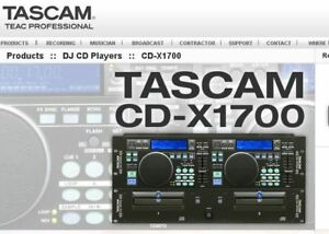 Tascam DJ's Mixer Double CD for Professional DJ's