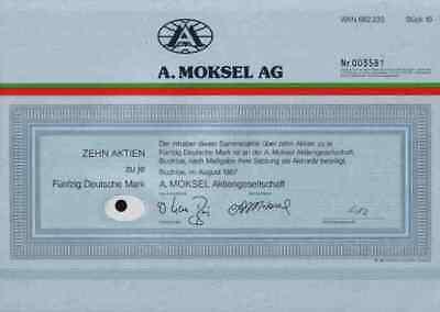 A. Moksel Buchloe 1987 März Rosenheim Merzig Vion Food 500 DM Bestmeat Company
