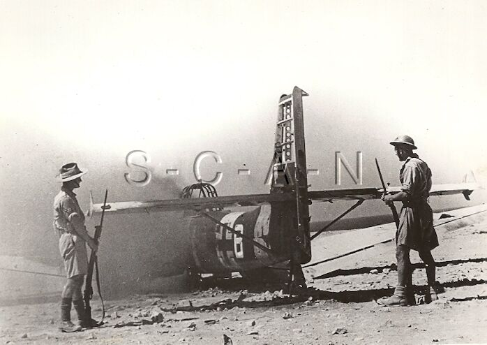 WWII UK Western Deseret Press Photo- DAK- Luftwaffe JU 87 Stuka Airplane- Tobruk