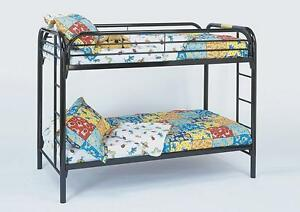 ★LORD SELKIRK FURN-TWIN/TWIN BLACK/WHITE METAL BUNK BED ★$199.*★