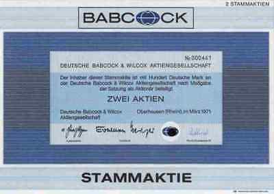BABCOCK Wilcox Borsig HDW 1971 Oberhausen Gleiwitz Kiel 100 DM Dampfkessel