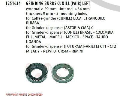 Grinding Burrs Cunill Futurmatpairsx 59x35x9.5 Part -1251634