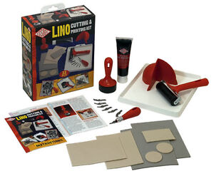 ESSDEE LINO CUTTING & PRINTING KIT 22PCS SET - CREATE STAMPS & PRINTS