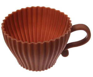 Tea Cup Silicone Cupcake Baking Cup - NEW