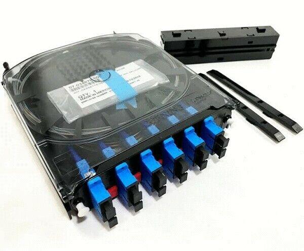 Corning CCH-CS12-59-P00RE, CCH Pigtail Splice Cassette, SC to SC, UPC Duplex, SM