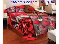 """Beautiful blanket acrylic product of the highest quality 3D technology 61""""x 87"""""""