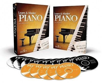 Learn and Master Piano - 10 DVDs - 5 CDs - BOOK - Instructional NEW  000321115