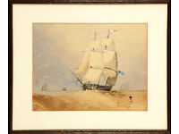M HEMSLEY - ORIGINAL ANTIQUE PAINTING - c1857 - FRAMED (picture)