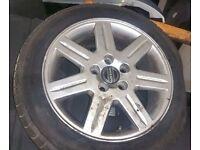 Volvo S40 x2 205 16 Inch Alloy Wheels & Tyre (2006)