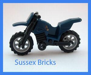 Lego - Dark Blue Dirt Bike Motorbike Motorcycle Motocross - City - New Pieces