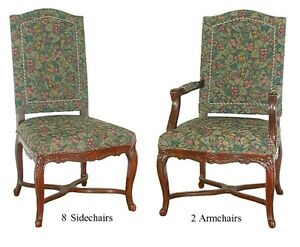 Set Of 10 Beautiful Antique Dining Chairs C 1890 5425 EBay