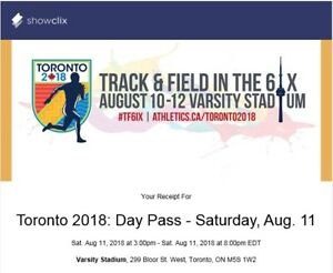 Toronto 2018 Track & Field in the 6