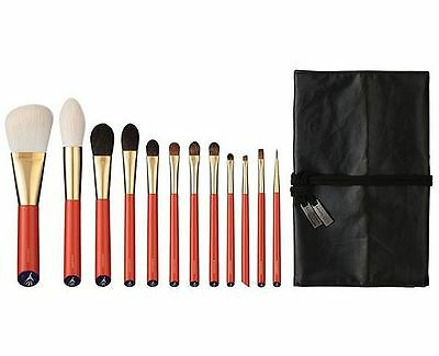 HAKUHODO Vermillion Handled Brush Set 12 pcs Free Shipping!!