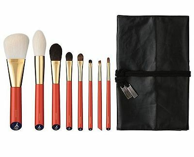 HAKUHODO Vermillion Handled Brush Set 8 pcs Free Shipping!!