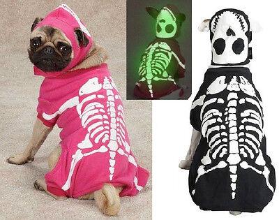 Glow Bones, USA Seller Glow in the Dark Skeleton Dog Halloween Costume, AllSizes - Skeleton Costume Glow In The Dark