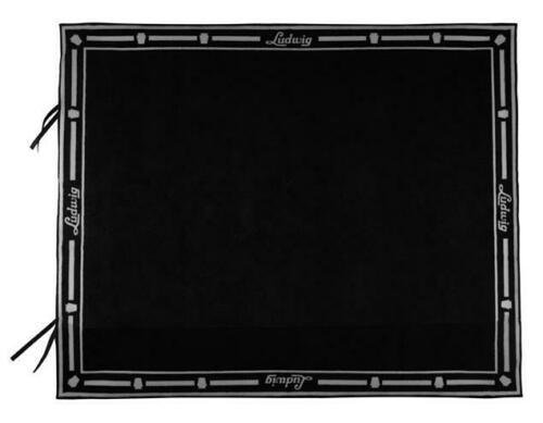 "Ludwig 63""x78"" Non-Slip Rubber Bottom Drum Rug with Fastener - Black"