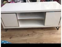 White high gloss tv stand up to 50inch