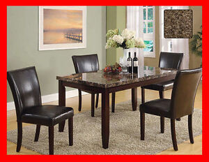 Save!!! Faux Marble 5 Piece Dinette Set @ Yvonne's Furniture
