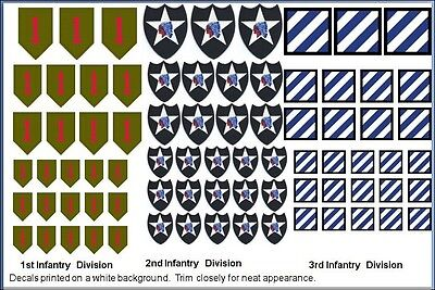 1st 2nd and 3rd Infantry Division Decals 1/35 1/48 1/24 1/16 1/25