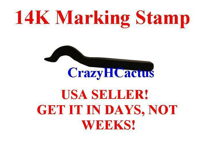 14k Gold Jewelry Stamp Punch Tool Hallmark Great for Rings, Necklaces, Pendants