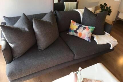 Fenton & Fenton | Designer 2.5 Seater Sofa | Couch Modern GREY