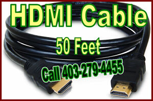 HDMI cable, 50 foot, upto 2180p