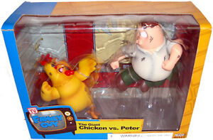 Family-Guy-Peter-Griffin-Vs-The-Giant-Chicken-Figure-Set-MIB-RARE-Mezco-Toy
