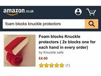 Knuckle protectors (2x foam blocks with every order)