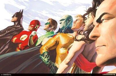 Batman Poster (JUSTICE LEAGUE - PROFILES ART POSTER - 22x34 - WONDER WOMAN BATMAN FLASH)