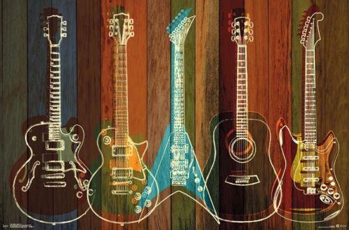 GUITARS - WALL OF ART POSTER - 22x34 - MUSIC 17051