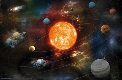 SOLAR SYSTEM - ORBITING THE SUN POSTER - 22x34 - SPACE 17341