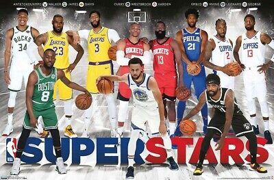 NBA SUPERSTARS - 2020 POSTER - 22x34 - BASKETBALL 18060