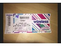 Saturday wireless ticket